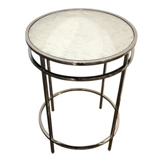 1990s Modern Stainless Steel Round Table For Sale