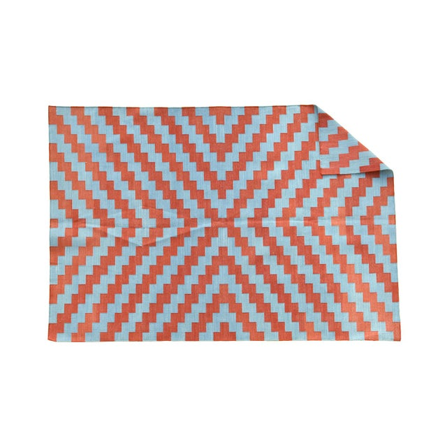 Made from naturally dyed 100% cotton yarn, these dhurrie rugs have been handwoven by skilled craftsmen in Jaipur. The age...