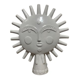 Jonathan Adler Ceramic Sun For Sale