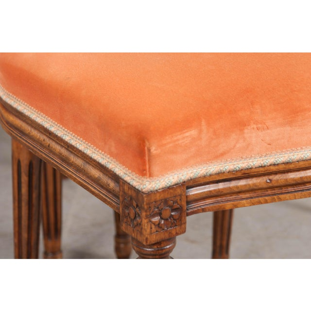 Orange French 19th Century Louis XVI-Style Walnut Sidechairs-Set of 6 For Sale - Image 8 of 12