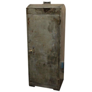 1920 English Industrial Metal Cabinet For Sale
