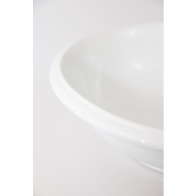 Late 19th Century Large Antique English White Ironstone Bowl For Sale - Image 5 of 7