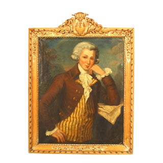 18th Century French Louis XVI Young Man Portrait Painting For Sale