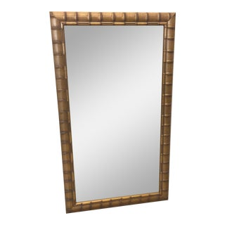 Gold Leaf Faux Bamboo Mirror