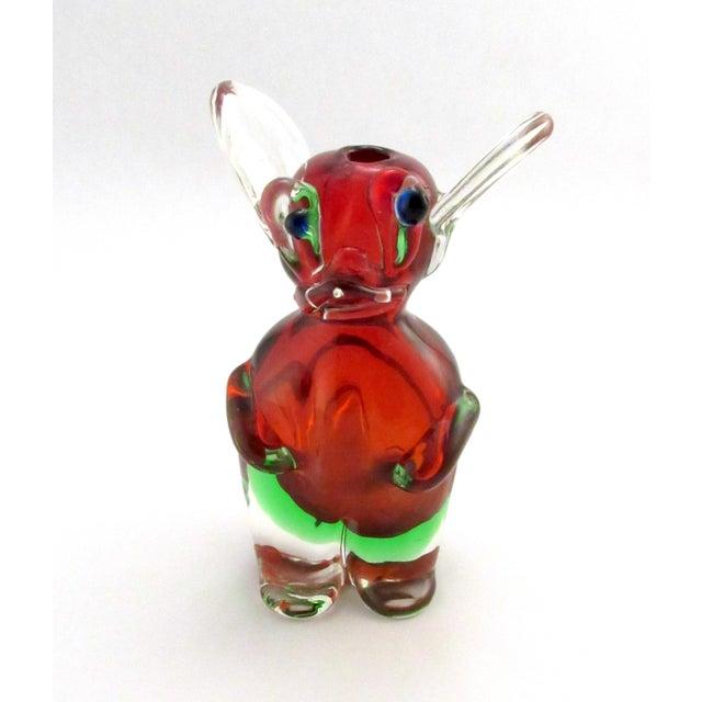 1960s Vintage 1969 Drioli Murano Glass Liqueur Bottle For Sale - Image 5 of 11
