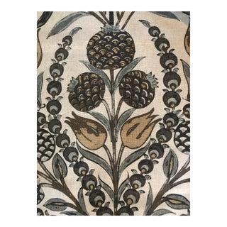 Thibaut Corneila Grey / Gold Fabric - 3 Yards For Sale