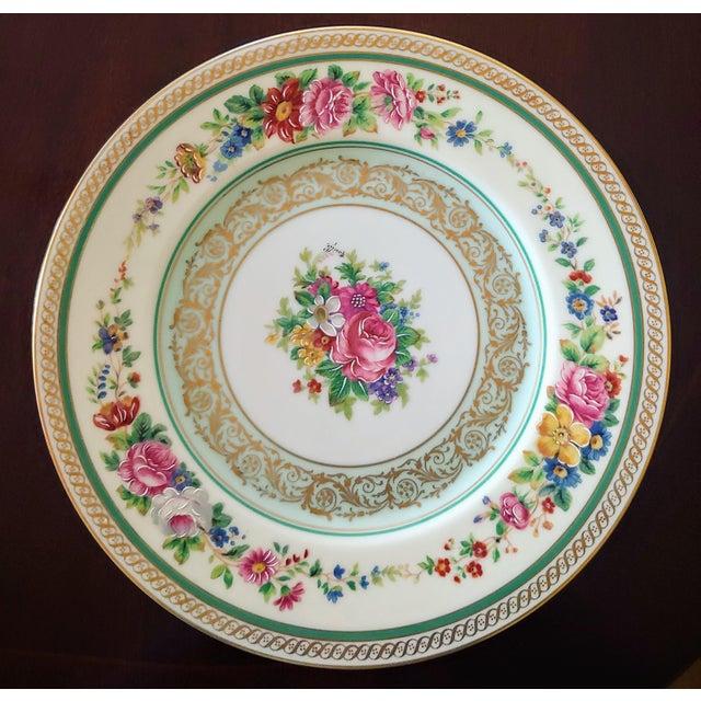 "Vintage set of twelve Limoges service plates. In excellent condition. Marked Charles Ahrenfeldt, Limoges. Size 11"" wide...."