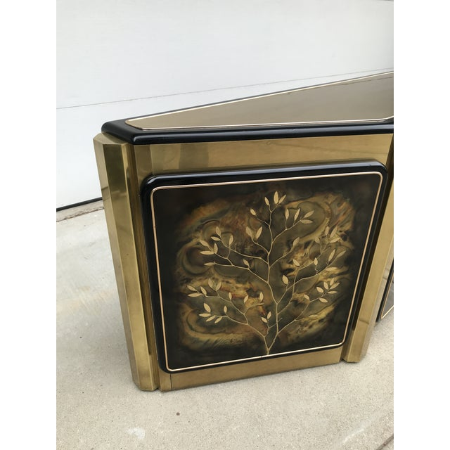 """Modern Mastercraft """"Tree of Life"""" Cabinet by Bernhard Rohne For Sale - Image 3 of 12"""