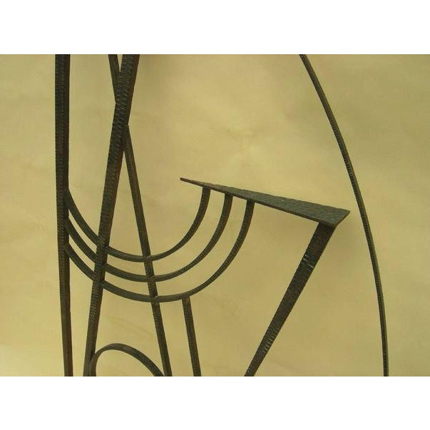 Art Deco Hammered Iron Screen - Image 3 of 7