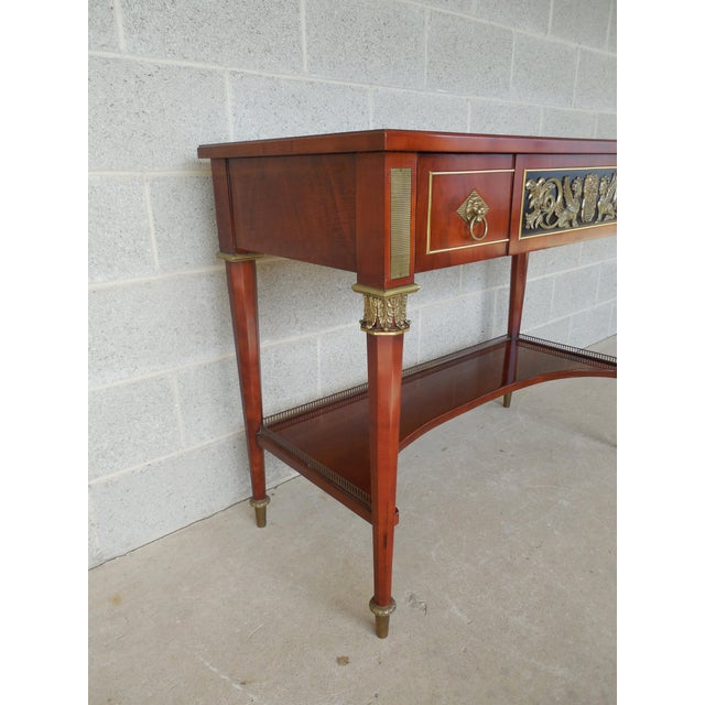 John Widdicomb JOHN WIDDICOMB Neo-Classical Bronze Mounted Console Table For Sale - Image 4 of 13