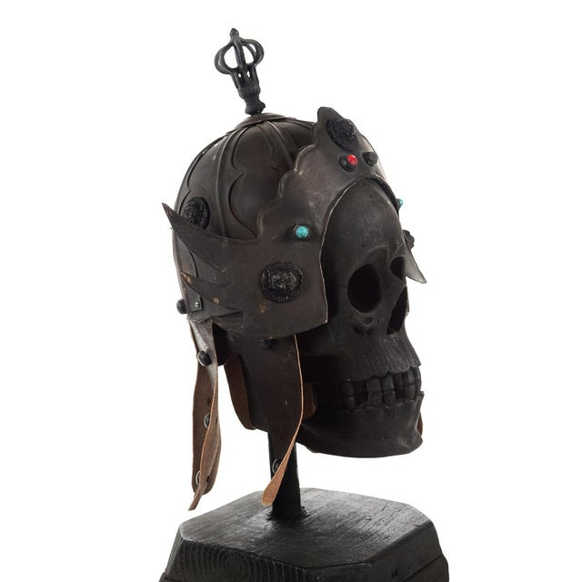This Chinese vintage bronze metal warrior helmet is a beautiful piece that will add to your décor! this listing is only...