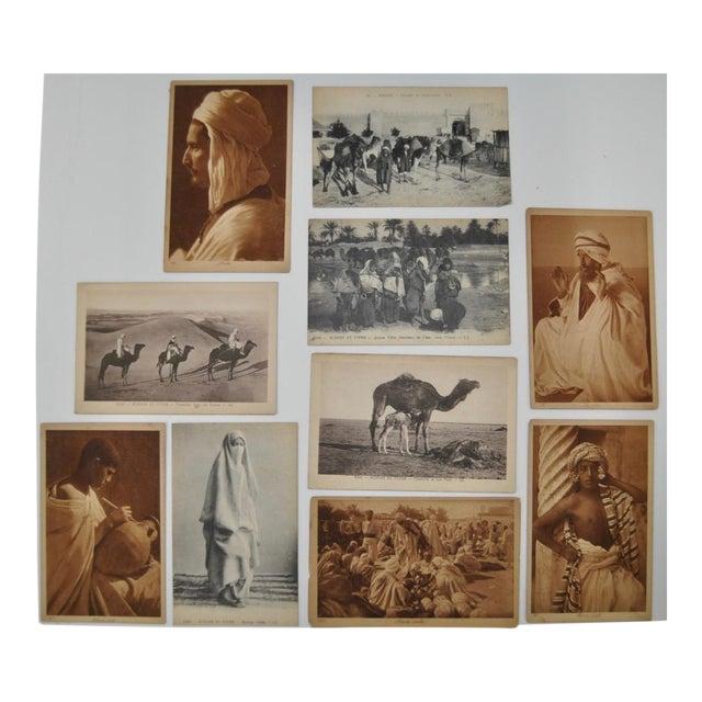 Paper Circa 1910 Lehnert & Landrock North Africa Photo Postcards - Set of 10 For Sale - Image 7 of 7