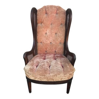 Lewittes Wingback Tufted Mid Century Chair For Sale