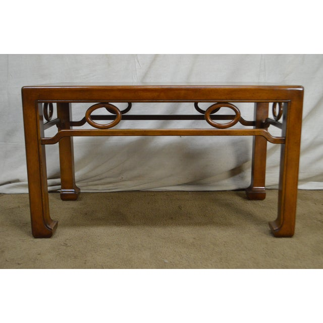 Mid-Century Modern James Mont Style Asian Influenced Side Table For Sale In Philadelphia - Image 6 of 13