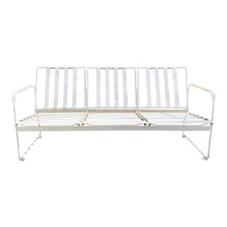 Vintage Mid Century Modern Rubber & Metal Patio Sofa For Sale