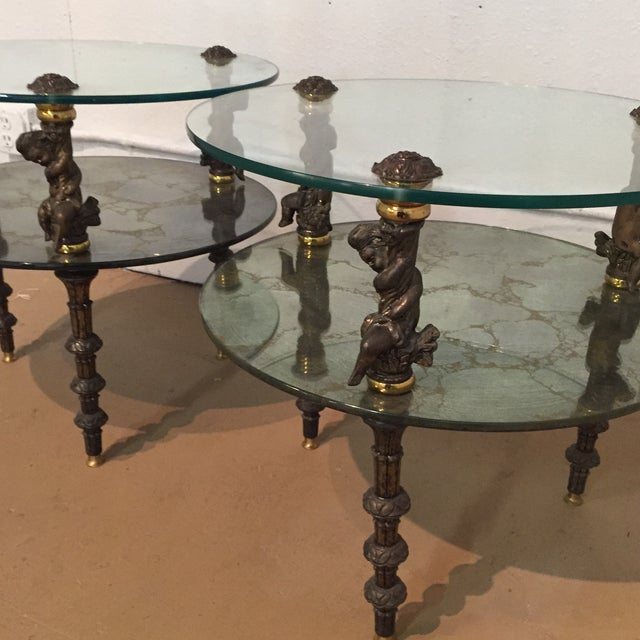 Hollywood Regency Side Tables - A Pair - Image 5 of 7