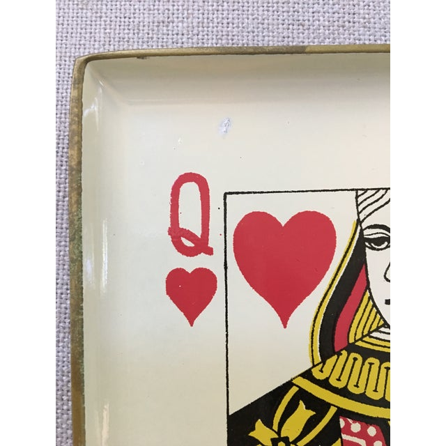 1960s Vintage Snack Trays in Playing Card Shapes - Set of 4 For Sale - Image 10 of 11