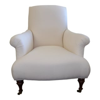Upholstered White Lee Furniture Side Accent Chair For Sale
