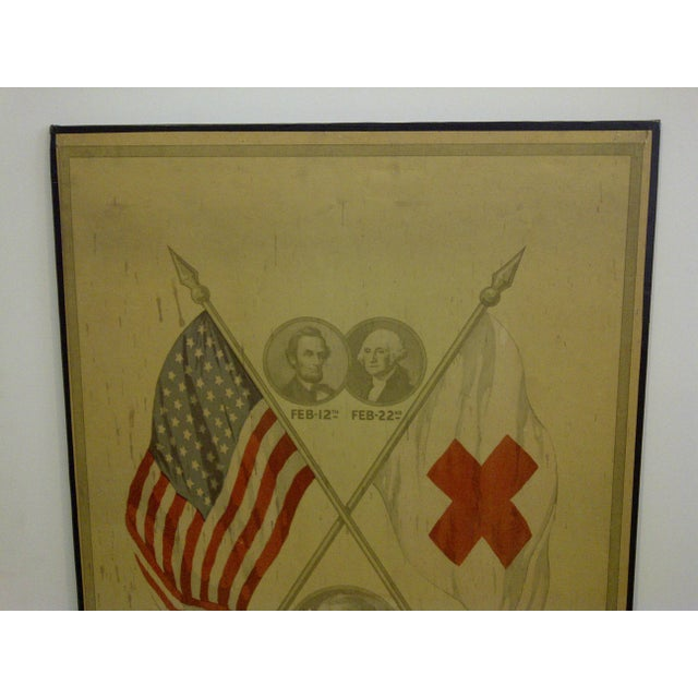 Vintage World War I Enrolls for National Service Members School Poster - Image 3 of 6