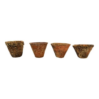 Clay French Pinch Pots - Set of 4