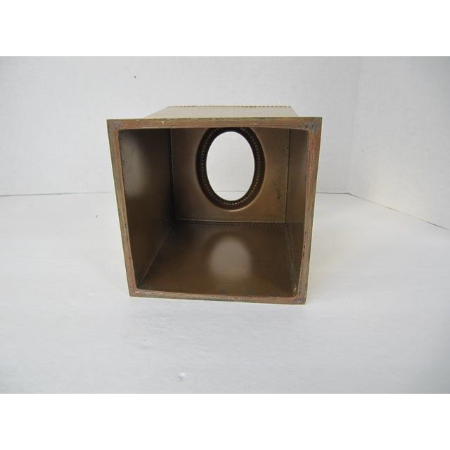 Traditional Brass Tissue Box Holder For Sale - Image 3 of 5