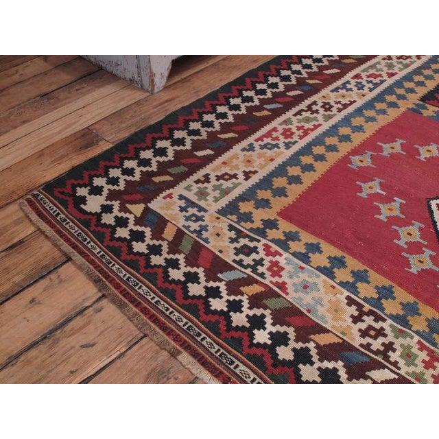 Mid 19th Century Antique Qashqai Kilim For Sale - Image 5 of 7