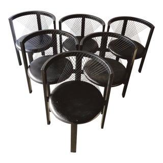 Black String Chairs by Niels Jørgen Haugesen for Traeneker Denmark - Set of Six For Sale