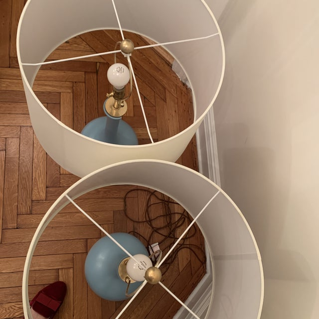 Christopher Spitzmiller Coy Large Table Lamp Set For Sale - Image 10 of 10