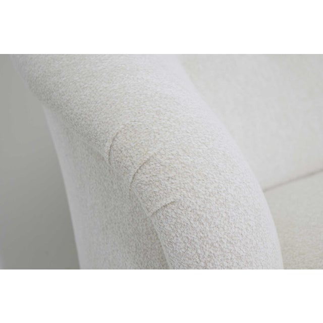 White Edward Wormley for Dunbar Short Sofa Model 5406 For Sale - Image 8 of 13