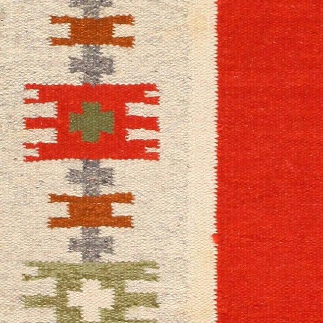 Mid 20th Century Vintage Swedish-Scandinavian Wool Rug - 4′6″ × 6′4″ For Sale - Image 5 of 7