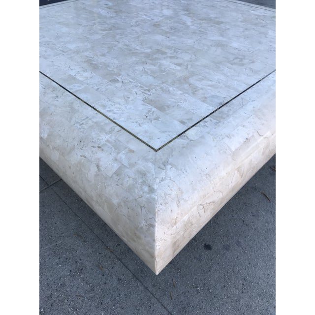1980s Art Deco Maitland-Smith Tesselated Stone Coffee Table For Sale In Los Angeles - Image 6 of 10