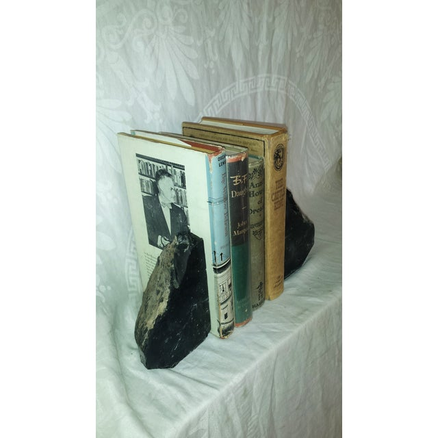 Natural Black Obsidian Bookends - A Pair For Sale - Image 5 of 6
