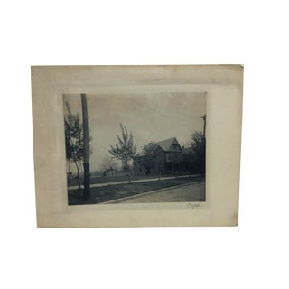"""1906 Antique """"The Family Home"""" Krigh Black & White Photograph For Sale"""