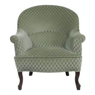 1890s Victorian Ladies Slipper Chair For Sale