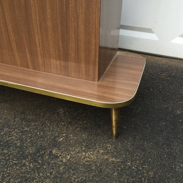 Mid-Century Modern Faux Wood Dry Bar - Image 10 of 11