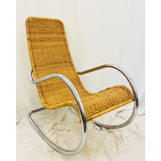 Mid Century Modern Thonet Rocking Chair For Sale - Image 9 of 9