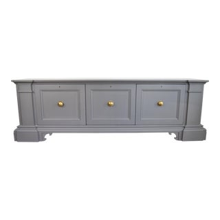 19th Century Traditional Bakers Company Gray Credenza / Tv Stand For Sale