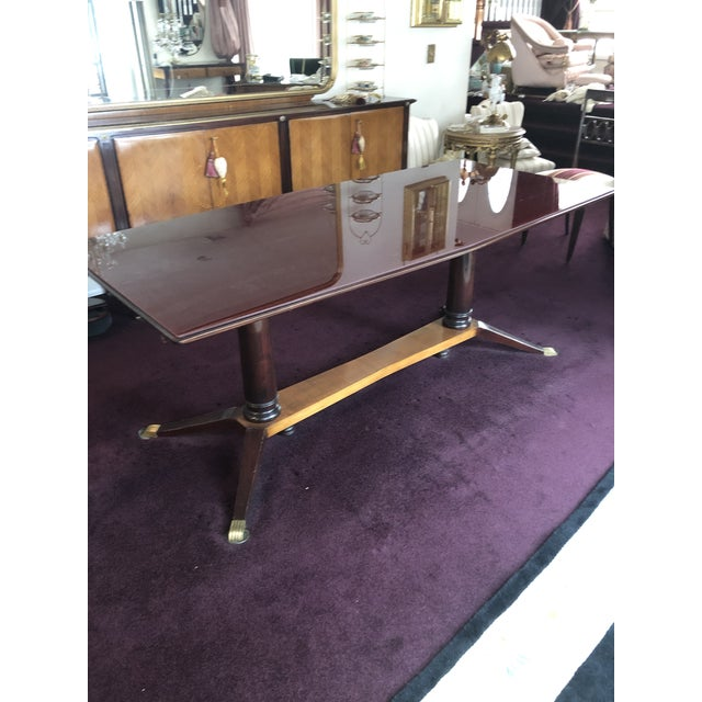 1950s 1950s Mid Century Modern Glass Top Dining Room Table That Extends For Sale - Image 5 of 5