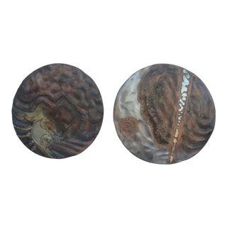 Wendell Art Torch Copper Wall Sculptures - Pair
