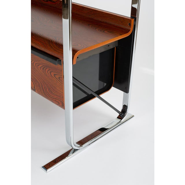 Chrome Zebrawood and Chrome Bookshelf by Peter Protzmann for Herman Miller For Sale - Image 7 of 13