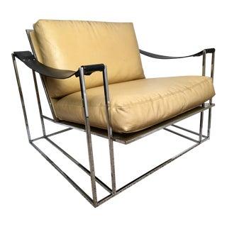Milo Baughman for Thayer Coggin Chrome Sling Arm Chair