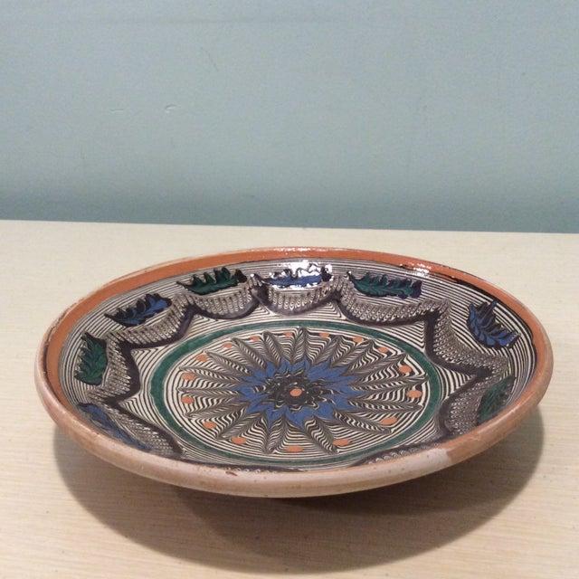 Boho Chic Handmade Romanian Pottery Bowl For Sale - Image 3 of 7
