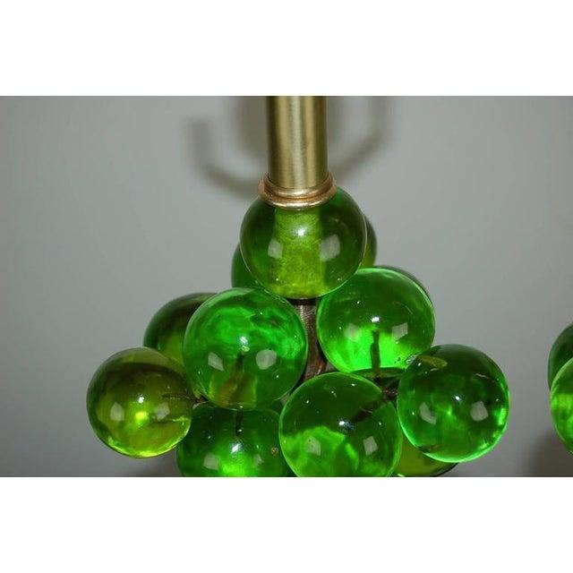 Silvano Pantani Vintage Bubble Table Lamps by Silvano Pantani, 1966 Lime Green For Sale - Image 4 of 10
