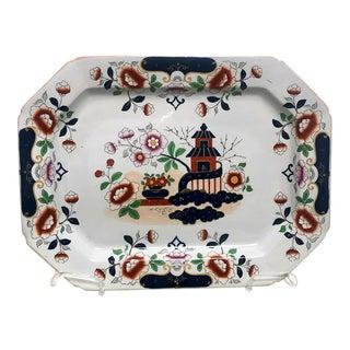 1810 English Octagonal Ironstone Platter For Sale