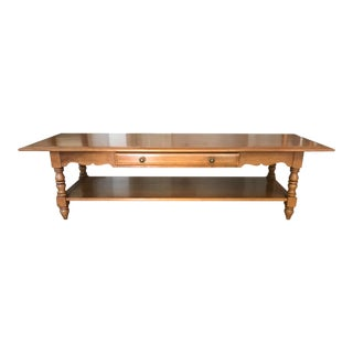 1960s Mid-Century Modern Conant Ball Maple Coffee Table For Sale