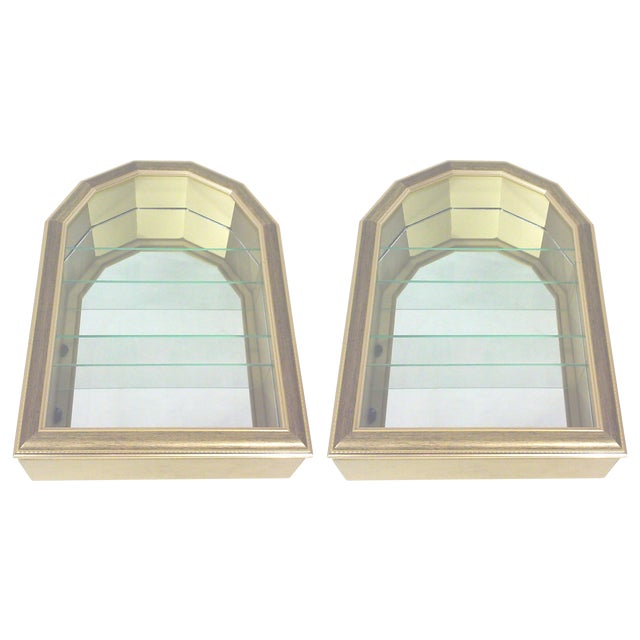 Gold Arch Wall Curios - Pair - Image 1 of 6