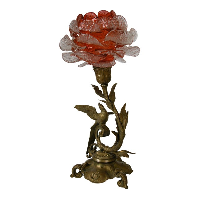 19th C. French Gilded Bronze & Glass Epergne - Image 1 of 8