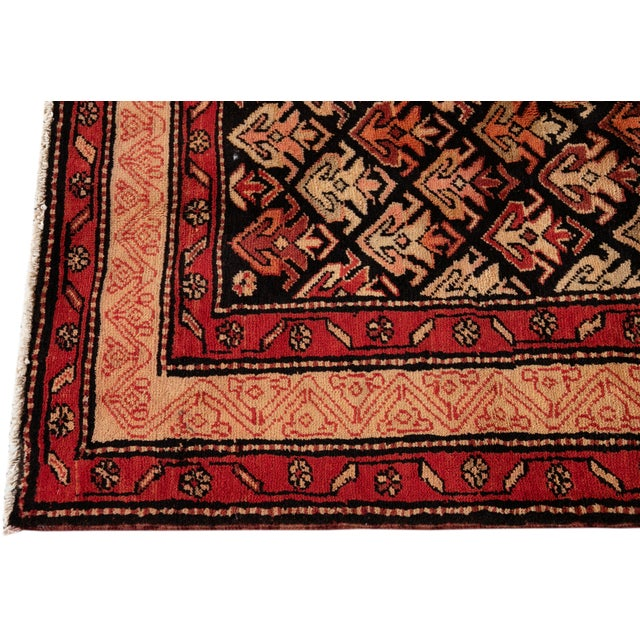 """1960s Vintage North West Persian Rug, 4'5"""" X 10'0"""" For Sale - Image 5 of 9"""