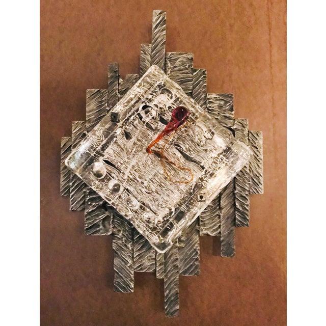 Brutalist Brutalist Murano Sconces / Flush Mounts - a Pair For Sale - Image 3 of 9