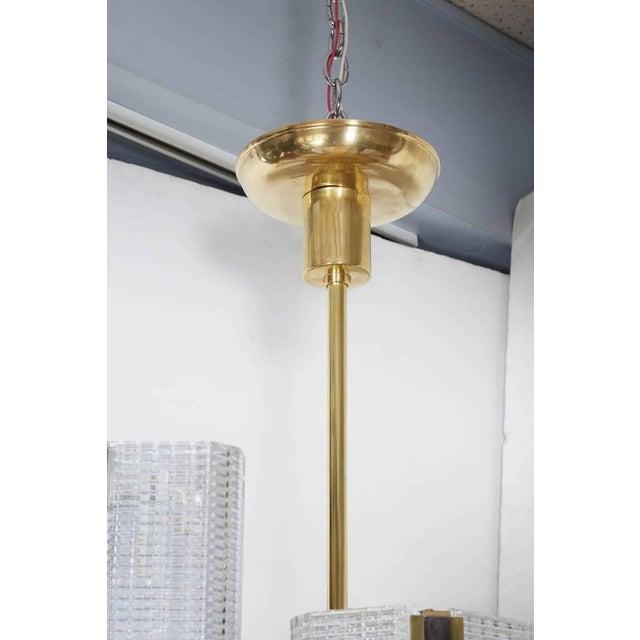 Mid 20th Century Kalmar Modernist Brass and Glass Ten-Arm Austrian Chandelier For Sale - Image 5 of 12